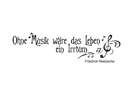 musik leben sprüche Wandtattoo Ohne Musik wäre das Leben ein Irrtum musik leben sprüche
