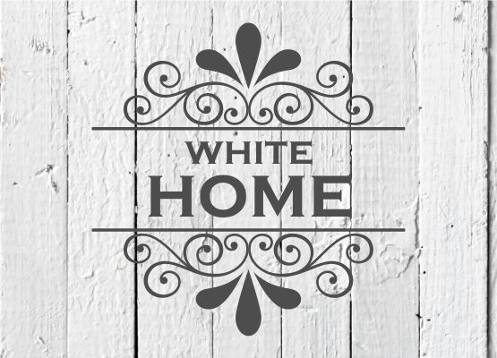 Möbeltattoo White Home mit Ornament Shabby Chic Style