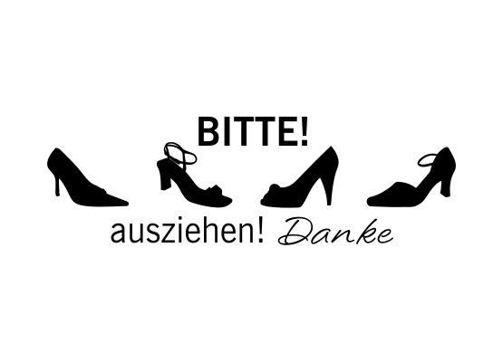Bitte Schuhe Ausziehen möbeltattoos und möbelaufkleber schuhe bitte ausziehen