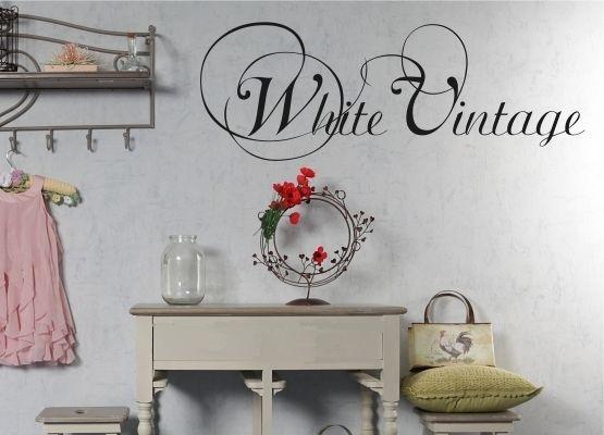Möbeltattoos und Möbelaufkleber - White Vintage - Shabby Chic Style