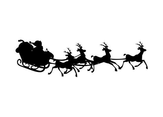 wandtattoo weihnachten  weihnachtsmann mit rentier