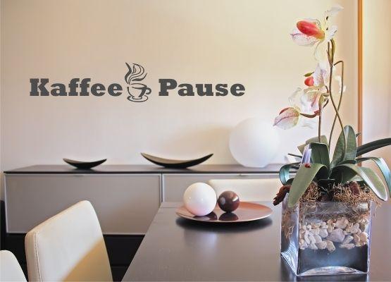 wandtattoo k che kaffee pause. Black Bedroom Furniture Sets. Home Design Ideas