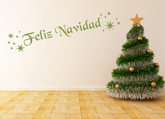 wandtattoo frohe weihnachten spanisch. Black Bedroom Furniture Sets. Home Design Ideas