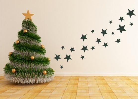 wandtattoo weihnachten weihnachtssterne 20er set. Black Bedroom Furniture Sets. Home Design Ideas