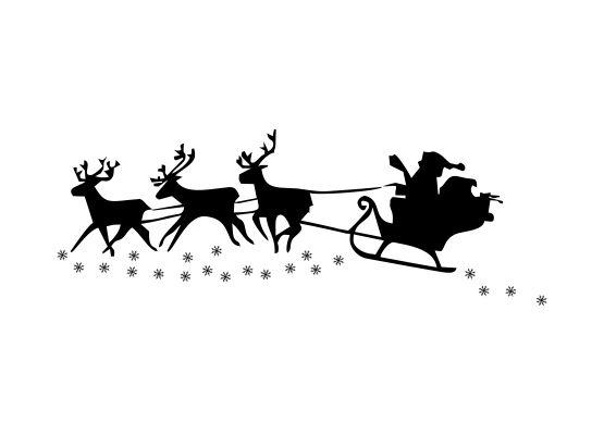 wandtattoo weihnachten santa claus und schlitten. Black Bedroom Furniture Sets. Home Design Ideas