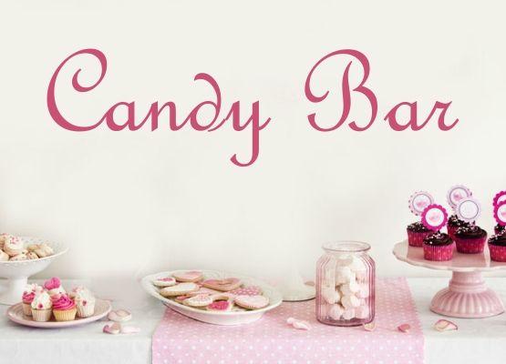 wandtattoo hochzeit candy bar schriftzug t13. Black Bedroom Furniture Sets. Home Design Ideas