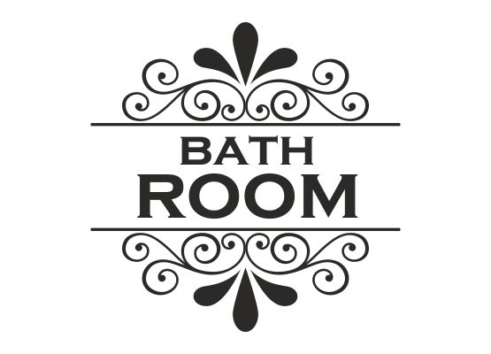 Möbeltattoo Bath Room mit Ornament Shabby Chic Style 02