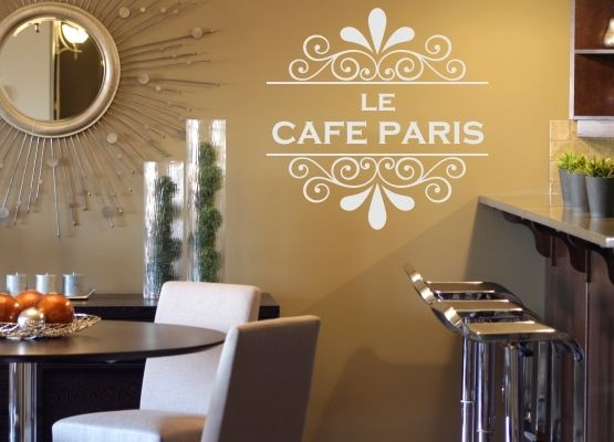Möbeltattoo Le Cafe Paris mit Ornament Shabby Chic Style 02
