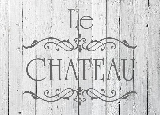 Möbeltattoo Le Chateau mit Ornamenten Shabby Chic Style